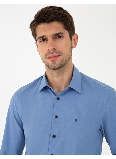 Pierre Cardin G021Gl004.000.1294517.Vr036 Gömlek Uzunk Mavi